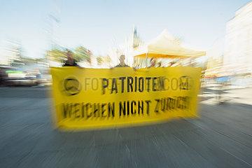 Kundgebung der Identitären und Gegenprotest