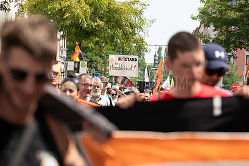 Demonstration for sea rescue operations and for Carola Rackete in Munich