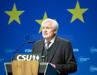 Horst Seehofer bei der Delegierten Versammlung der CSU