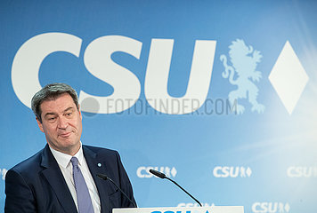 CSU Press Conference on 100 days Chairman Markus Soeder
