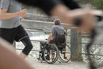 Leben mit Behinderung  Muenchen  April 2020