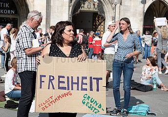 Demo gegen die Corona Regelungen