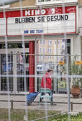 Geschlossenes Kino  Muenchen  April 2020