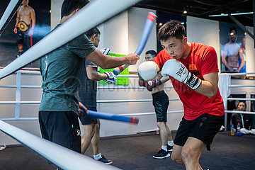 (SP)CHINA-KUNMING-BOXING-XU CAN-TRAINING