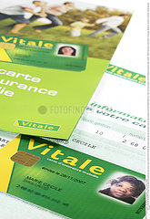 SECURITE SOCIALE CARTE!!NAT'L HEALTH SERVICE CARD
