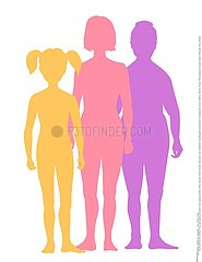 SILHOUETTE FAMILLE!SILHOUETTE OF A FAMILY