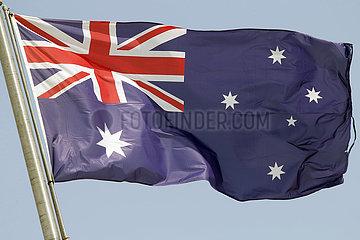 Berlin  Deutschland  Nationalfahne von Australien
