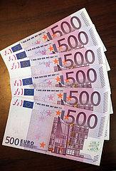 Berlin  Deutschland  500-Euro-Scheine