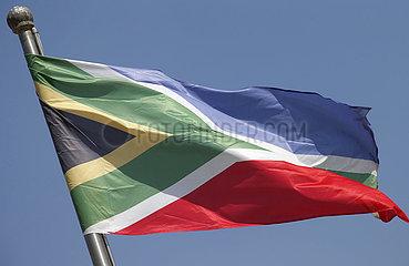 Berlin  Deutschland  Nationalfahne von Suedafrika
