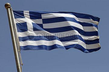 Berlin  Deutschland  Nationalfahne von Griechenland