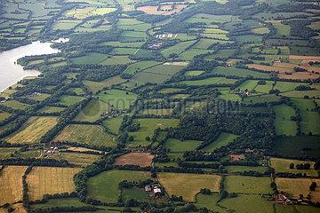 London  Grossbritannien  Landschaft beim Anflug auf den Flughafen Londen-Gatwick