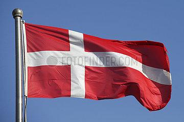 Berlin  Deutschland  Nationalfahne von Daenemark