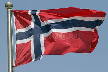Berlin  Deutschland  Nationalfahne von Norwegen