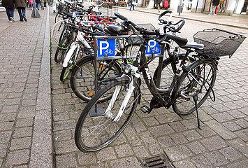 Speyer  Deutschland  Fahrradparkplatz