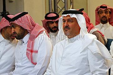 Riad  Saudi-Arabien  HRH Prince Bandar bin Khalid al Fasal (rechts) im Portrait