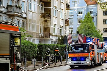 Feuerwehreinsatz im Wohngebiet