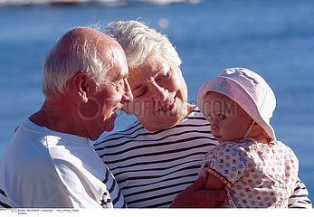 ELDERLY PERSON & INFANT
