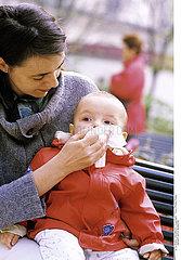 INFANT WITH RHINITIS