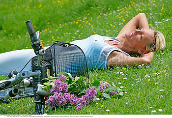 ELDERLY PERSON RESTING