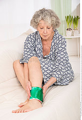 ELDERLY PERSON WITH ANKLE PAIN