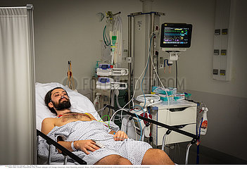 Adult emergency in a hospital center