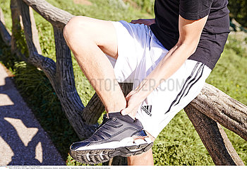 MAN WITH ANKLE PAIN