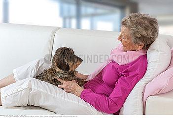 SENIOR WITH ANIMAL
