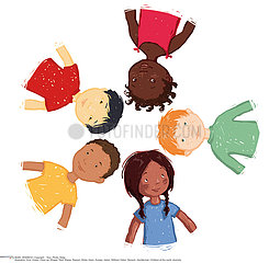 GROUP OF CHILDREN Illustration
