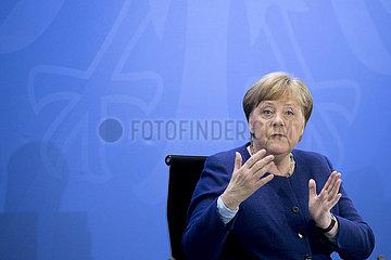 Angela Merkel  Press Call Coronavirus Crisis