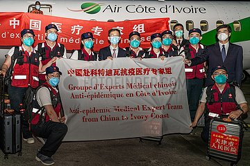COTE D'IVOIRE-ABIDJAN-COVID-19-CHINESE MEDICAL TEAM-EXPERTS-ARRIVAL