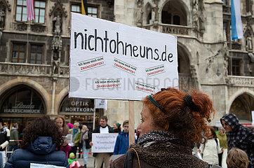 Demo gegen die Corona Maßnahmen in München
