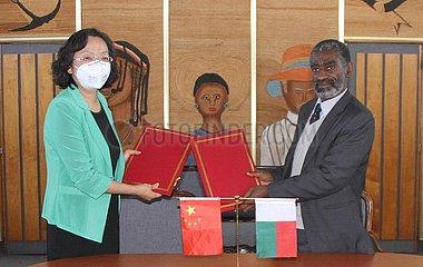 MADAGASCAR-Tananarive-COVID-19-CHINA-AID-SUPPLY