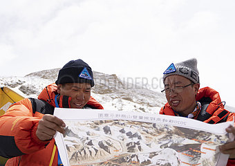 (InTibet) CHINA-TIBET-Qomolangma-HEIGHT MEASURE (CN)