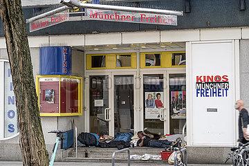 Geschlossenes Kino Muenchner Freiheit  Muenchen  April 2020