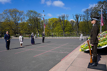 LATVIA-RIGA-COVID-19-DECLARATION OF INDEPENDENCE-ANNIVERSARY