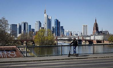 Skyline  Frankfurt am Main  Hessen  Deutschland