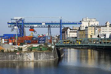 Osthafen Frankfurt  Frankfurt am Main  Hessen  Deutschland