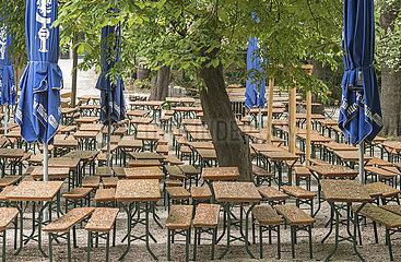 geschlossener Biergarten  Augustinerkeller  Muenchen  Mai 2020