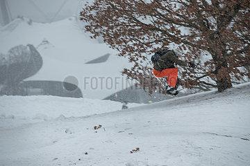 München: Schnee im Olympiapark