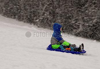 Starker Schneefall in München