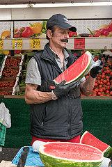 Deutschland  Berlin - tuerkisches Obst- und Gemuesegeschaeft an der Potsdamer Strasse