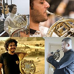 Xinhua Schlagzeilen: Musik wärmt Herzen inmitten COVID-19 - Chinesisch  Bühne ägyptische Musiker virtuelle Performance von Triumphal March