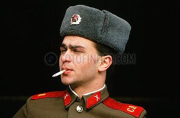Russischer Soldat der Sowjetarmee