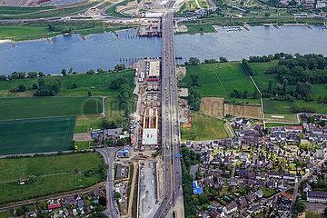 Baustelle Autobahn A1 Leverkusen
