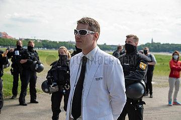 Kundgebung gegen die Corona Maßnahmen an der Theresienwiese