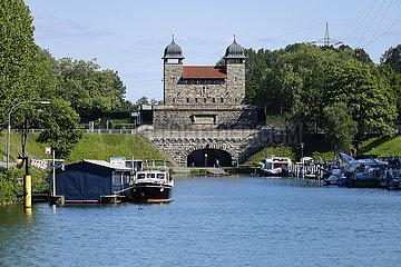 Alte Schachtschleuse Waltrop  Waltrop  Ruhrgebiet  Nordrhein-Westfalen  Deutschland