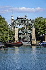 Historisches Schiffshebewerk  Waltrop  Ruhrgebiet  Nordrhein-Westfalen  Deutschland