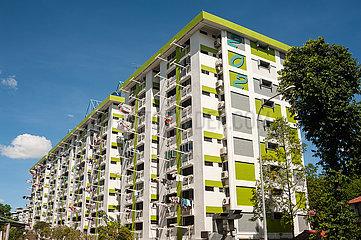 Singapur  Republik Singapur  Mehrgeschossige HDB Wohnblocks des oeffentlichen Wohnungsbau