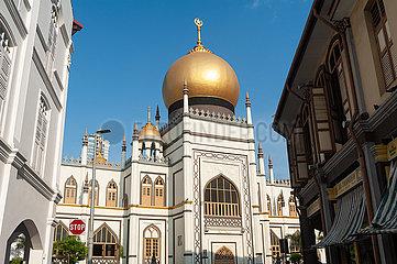 Singapur  Republik Singapur  Sultan-Moschee (Masjid Sultan) im Muslimischen Viertel (Kampong Glam)