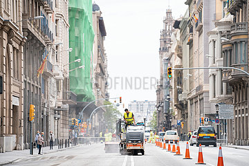 SPAIN-BARCELONA-COVID-19-ADAPTING AVENUES AND STREETS